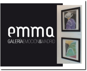 Seda pintada en Galeria EMMA de Madrid