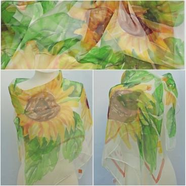 Sunflowers, Chiffon 90x0