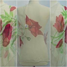 Poppies, chiffon180x55