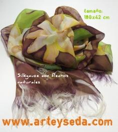 Gauze silk scarf by arte y seda
