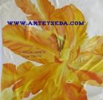 Arte y seda's scarf (Fire tulip)