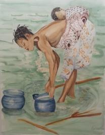Mama en el rio